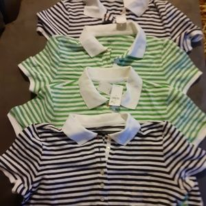 Lot of 4 New Mens Gap polo shirts size M